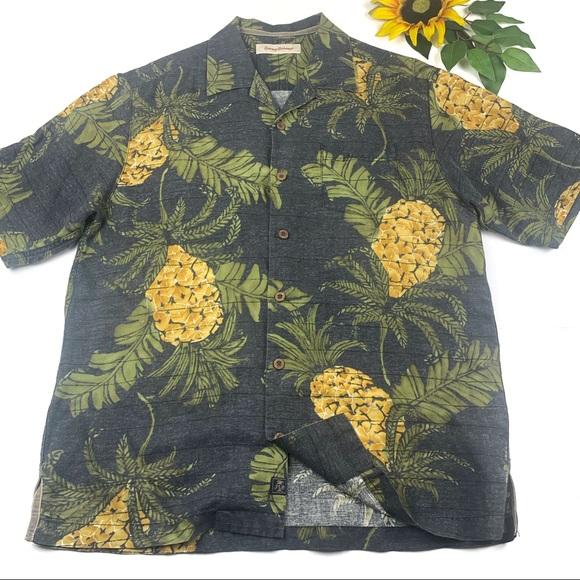 Tommy Bahama Other - Tommy Bahama Floral Pineapple Hawaiian Shirt Silk